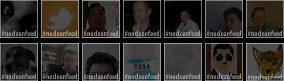 #nocleanfeed twibbon tweeps
